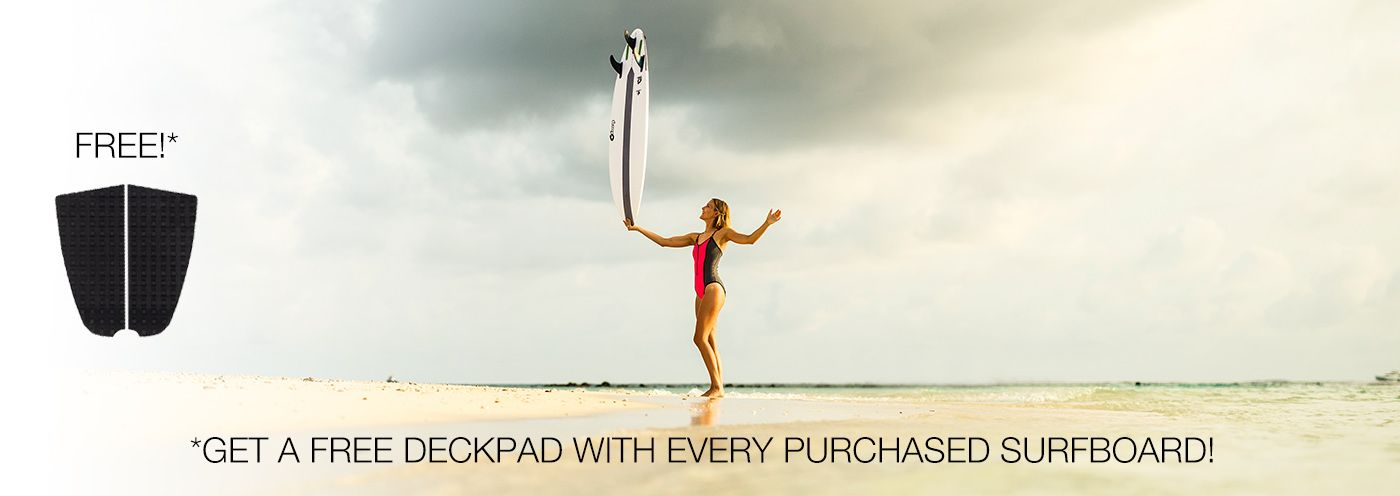 FREE DECKPAD WITH EVERY PURCHASED SURFBOARD